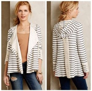 Anthropologie Saturday Sunday Stripe Lace Cardigan